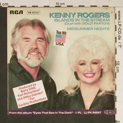 Rogers,Kenny / Parton,Dolly: Islands in the Stream, RCA(PB 60107), D, 1983 - 7inch - T884 - 2,00 Euro