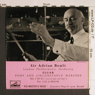 Elgar,Edward: Pomp and Circumstance Marches, His Masters Voice(7EB 6026), UK,  - 7inch - S8699 - 3,00 Euro