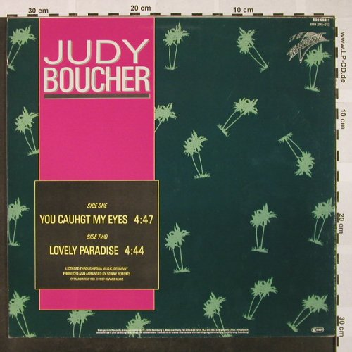 Boucher,Judy: You Caught My Eyes+1, Transparent(802 058-1), D, 1987 - 12inch - H4213 - 4,00 Euro