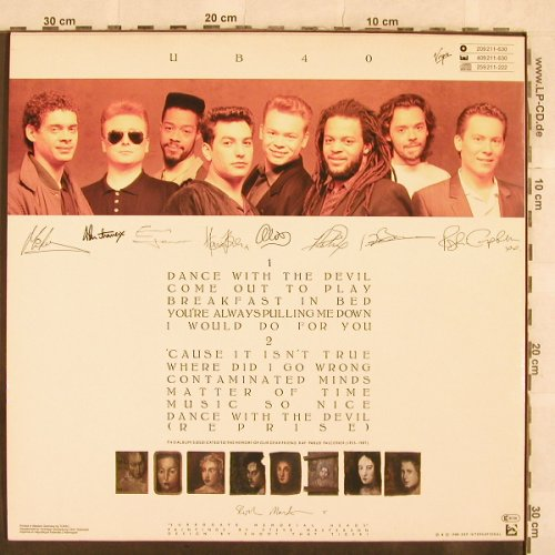 UB 40: Same, Virgin(209 211-630), D, 1988 - LP - X100 - 6,00 Euro