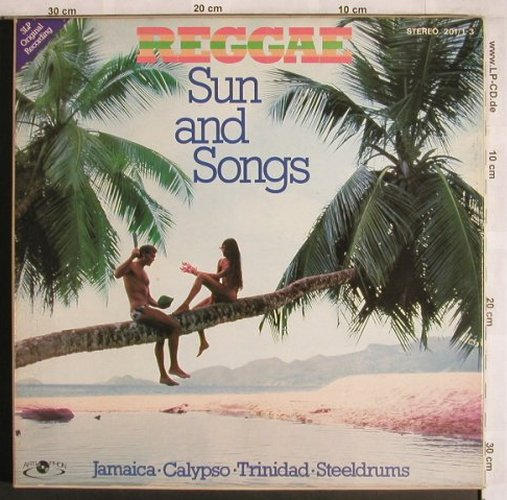 V.A.Reggae-Sun and Songs: Jamaica,Calypso,Trinidad,Steeldrums, ArtiPhon, Box(201/1-3), D,m-/vg+,  - 3LP - X4112 - 9,00 Euro