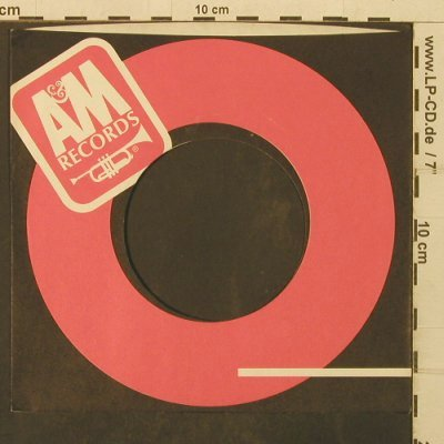 A&M: Firmenlochcover- red/black/white, AM(), US,  - Cover - T3995 - 1,50 Euro