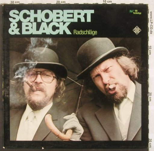 Schobert & Black: Radschläge, Telefunken(6.22408 AS), D, 1976 - LP - C4195 - 6,00 Euro