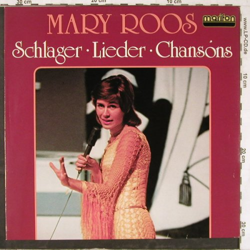 Roos,Mary: Schlager Lieder Chansons, Marifon(47 897 XAU), D,  - LP - E4964 - 5,50 Euro