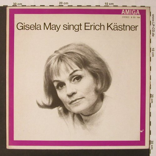 May,Gisela: singt Erich Kästner, Amiga (red)(8 55 144), DDR, 1968 - LP - F3461 - 5,00 Euro