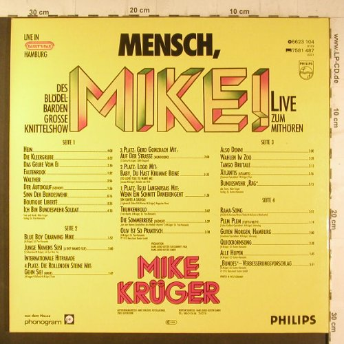Krüger,Mike: Mensch Mike!,Foc, Philips(6623 104), D, 1975 - 2LP - F6702 - 7,50 Euro