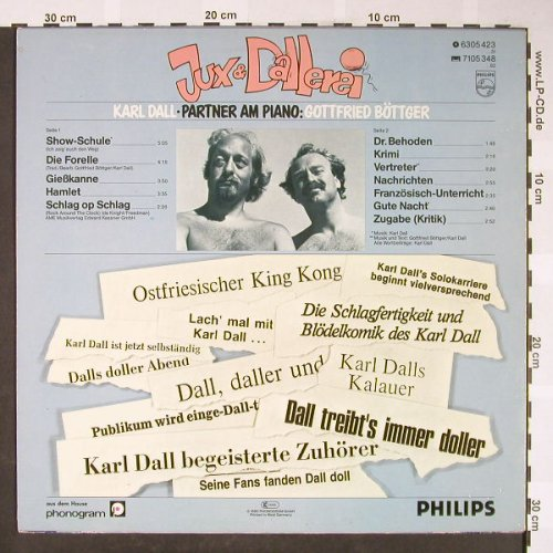 Dall,Karl: Jux & Dallerei - Live, Philips(6305 423), D, 1980 - LP - H1728 - 5,50 Euro