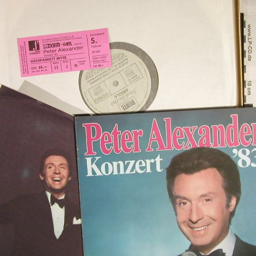 Alexander,Peter: Stars In Gold,Box+Konzert'83,Ticket, Ariola/Bunte(85 099 XT), D,vg+/m-,  - 2LP - H202 - 7,50 Euro