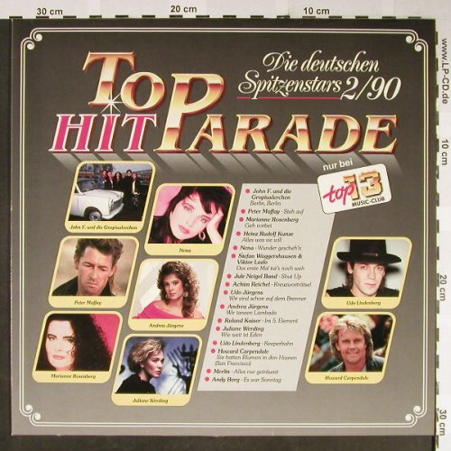 V.A.Top Hit Parade: Die deutschen Spitzenstars 2/90, top 13 music-club(A-9901), D, 1990 - LP - H2155 - 4,00 Euro