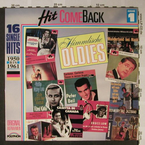 V.A.Hit Come Back: Himmlische Oldies Nr.1,1950-1961, Polyphon(837 454-1), D,vg+/m-,  - LP - H2510 - 3,00 Euro
