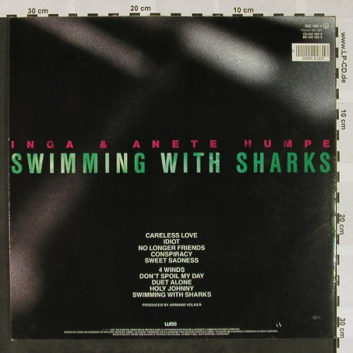 Humpe,Inga & Anete: Swimming With Sharks, WEA(242 183-1), D, 1987 - LP - H4275 - 7,50 Euro
