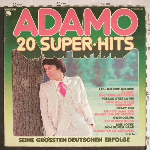 Adamo: 20 Super Hits, EMI(058-29 679), D,  - LP - H8015 - 4,00 Euro