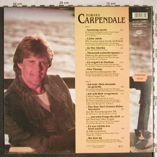 Carpendale,Howard: Same, EMI(146977 1), D, 1984 - LP - H8143 - 5,00 Euro