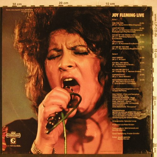 Fleming,Joy: Live, Foc, Intercord(26 020-8 U), D, 1974 - LP - H8278 - 5,00 Euro
