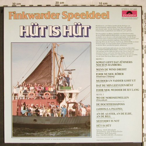 Finkwarder Speeldeel: Hüt is Hüt, 70 Jahre ..., Polydor(2371 683), D, 1976 - LP - H8445 - 5,00 Euro