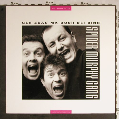 Spider Murphy Gang: Geh Zoag Ma Doch Die Ding/Ois OK, Intercord(INT 125.269), D,col.Viny, 1989 - 12inch - H9015 - 2,50 Euro
