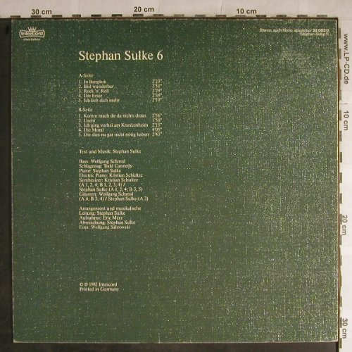 Sulke,Stephan: 6, Club-Ed., Intercord(32 0820), D, 1981 - LP - H9065 - 3,00 Euro