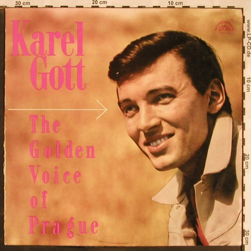 Gott,Karel: The Golden Voice Of Prague, vg+/vg+, Supraphon,SUA13643(DV 10232), CZ, stoc, 1966 - LP - X1251 - 12,50 Euro
