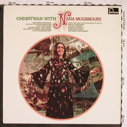 Mouskouri,Nana: Christmas with,Sample Rec stol, Fontana(6312 033), NL, 1972 - LP - X1430 - 7,50 Euro