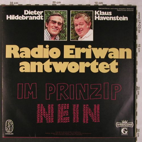 Hildebrandt,Dieter & Kl.Havenstein: Radio Eriwan Antwortet, Global(26 005-9 B), D,  - LP - X2686 - 9,00 Euro