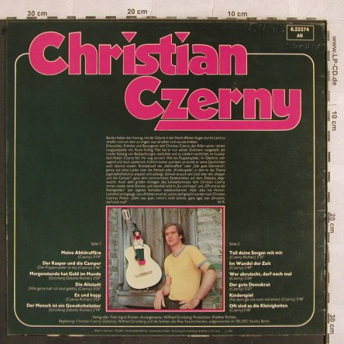 Czerny,Christian: Der Puppenspieler Is Da, Telefunken(6.22274 AS), D, woc, 1975 - LP - X31 - 5,00 Euro