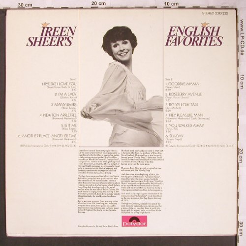 Sheer,Ireen: English Favorites, Polydor(2310 330), D, 1974 - LP - X4713 - 12,50 Euro