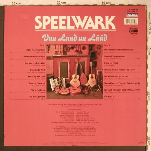 Speelwark: Vun Land un Lüüd, Teldec(6.26506 AS), D, 1987 - LP - X4742 - 6,00 Euro