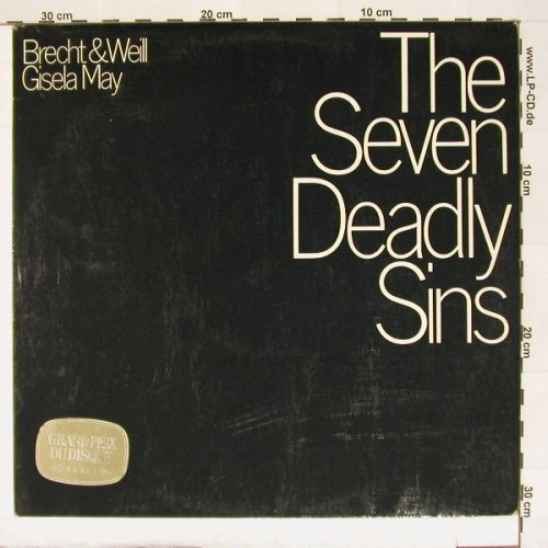 Seven Deadly Sins, The: Gisela May, D.Gr.(139 308), D, 67 - LP - A629 - 7,50 Euro