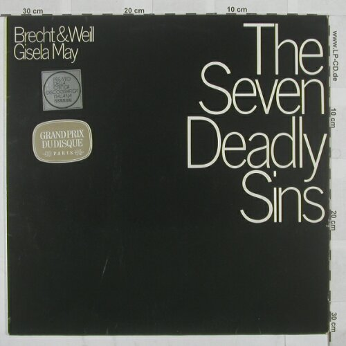 Seven Deadly Sins, The: Gisela May, D.Gr.(139 308), D, 67 - LP - A6359 - 5,00 Euro