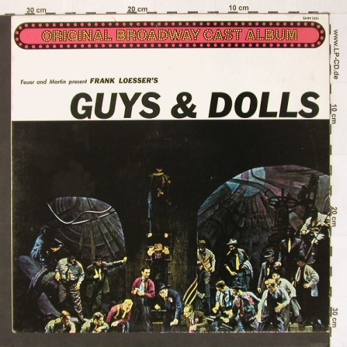 Guys & Dolls: Orig. Broadway Cast, Hallmark(SHM 3201), UK, Ri, 55 - LP - B8640 - 5,00 Euro