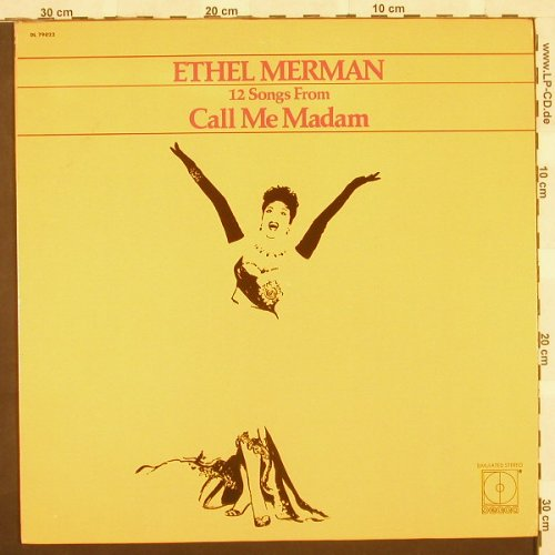"Merman,Ethel: 12 Songs From ""Call Me Madam"", Decca(DL 79022), US, 71 - LP - B9778 - 9,00 Euro"