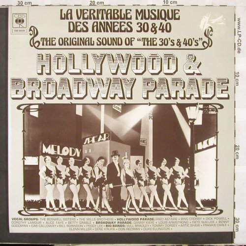 V.A.LaVeritableMusiqueD.Annees30+40: Hollywood & Broadway Parade, m-/vg+, CBS, FOC(88026), NL, 74 - 2LP - C1795 - 9,00 Euro