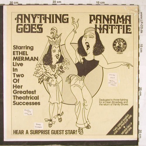 Anything Goes and Panama Hattie: Starring Ethel Merman, LarynxDisc(567), US,  - LP - E5475 - 7,50 Euro