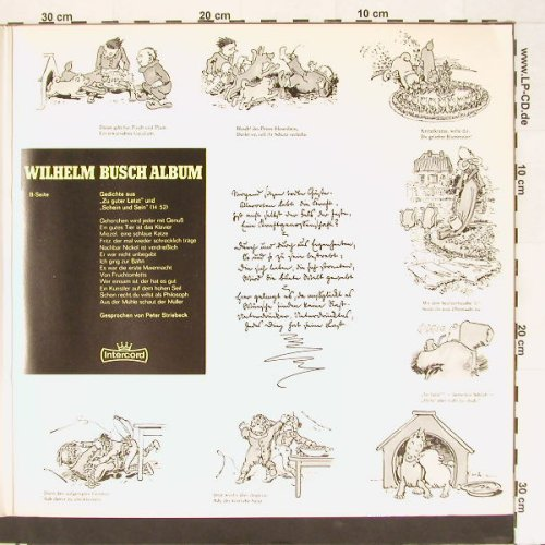 Willhelm Busch Album: gespr.Peter Striebeck, ,Foc, Intercord(964-08 Z), D,  - 2LP - F1153 - 10,00 Euro