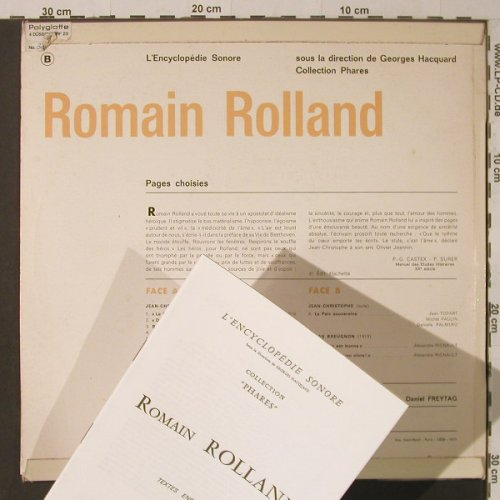 Rolland,Romain: Extraits de:Jean-Christophe.,m-/vg+, l'Encyclopedie Sonore(320 E 941), F, 1971 - LP - F5433 - 5,00 Euro