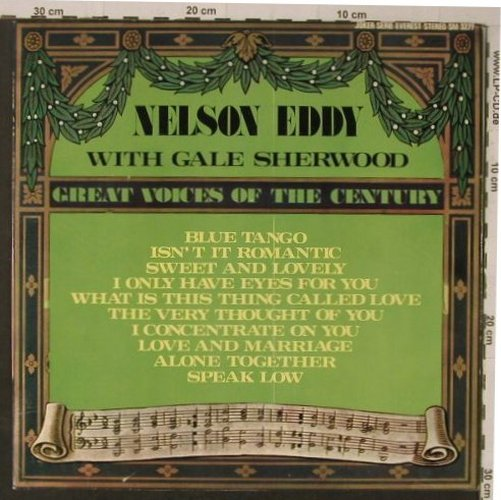 Eddy,Nelson feat Gale Sherwood: Great Voice Of The Century, Joker(SM 3277), I, Ri,  - LP - F5640 - 5,00 Euro