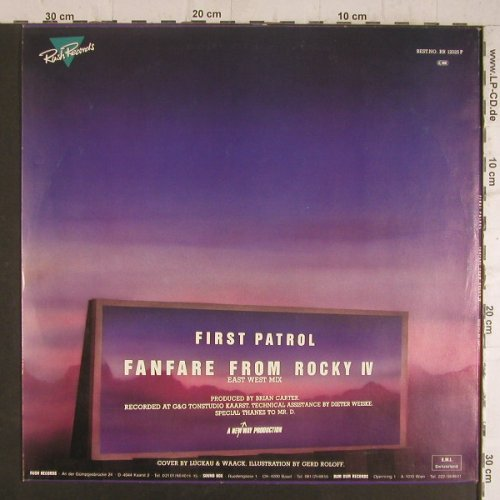 "Rocky IV: Fanfare From Rocky 4,by FirstPatrol, Rush Records(RR 12025), D,  - P12"" - F6305 - 4,00 Euro"