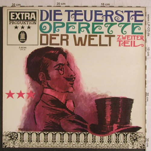 V.A.Die Teuerste Operette: Zweiter Teil,german spoken words, Odeon(O 83 344), D,vg+/m-,  - LP - F6923 - 5,00 Euro