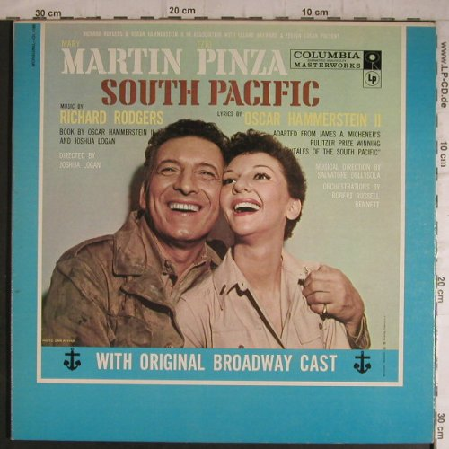 South Pacific - Orignal Broadw.Cast: Mary Martin - Ezio Pinza, Foc, Columbia(OL 4180), US,  - LP - F7133 - 9,00 Euro