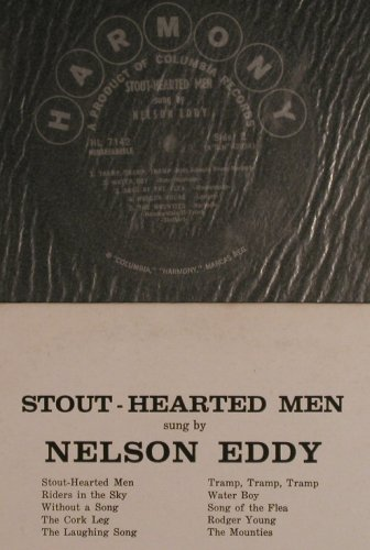 Eddy,Nelson: Stout-Hearted Men, sung by, Harmony(HL 7142), US,m-/toc,  - LP - F7166 - 9,00 Euro