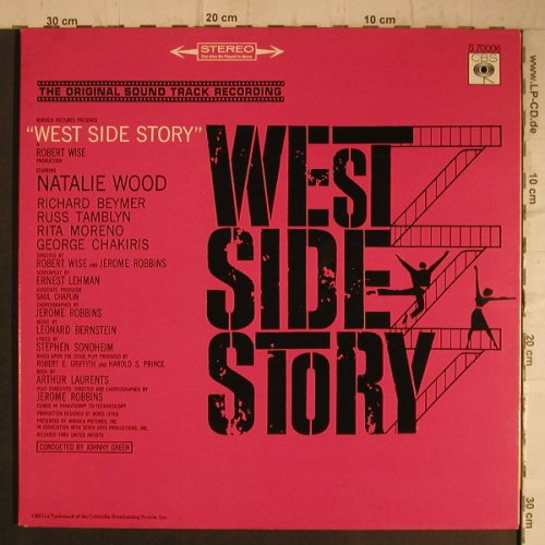 West Side Story: Original Soundtrack, Foc, Ri, CBS(S 70006), NL, 1965 - LP - F7384 - 5,00 Euro