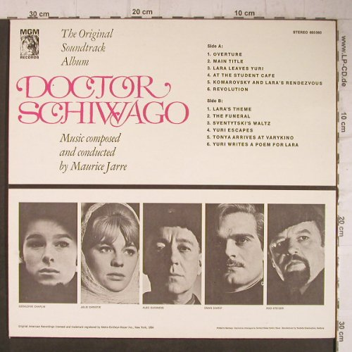 Doctor Schiwago: Music By Maurice Jarre, Ri, MGM(665 060), D, 1966 - LP - F7708 - 5,00 Euro