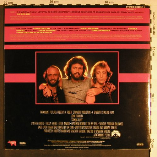 Staying Alive: Original Soundtrack, 3 x signiert, RSO(813 269-1), D, Ri,1983, 1977 - LP - F9409 - 25,00 Euro
