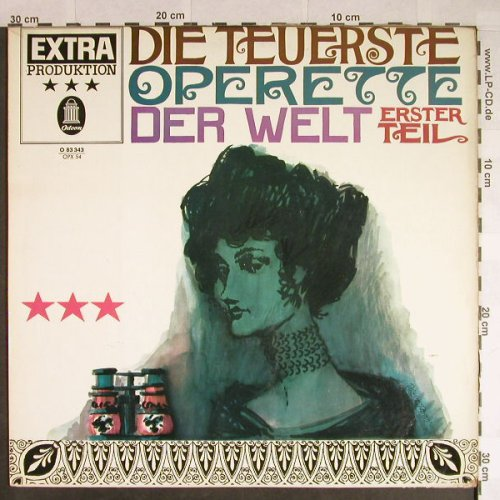 V.A.Die Teuerste Operette: Erster Teil,german spoken words, Odeon(O 83 343), D,  - LP - H146 - 6,00 Euro