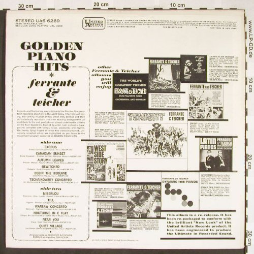 Ferrante & Teicher: Golden Piano Hits, UA(UAS 6269), US, 1963 - LP - H1850 - 12,50 Euro