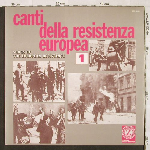 V.A.Canti della Resistenza Europea: Songs of the European Resistance 1, Z, Foc(VPA 8160), I, vg+/m-,  - LP - H3259 - 4,00 Euro