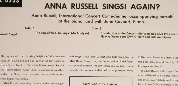 Russell,Anna: Sings Again ?, Columbia,Mono(ML 4733), US, 1972 - LP - H6625 - 5,00 Euro