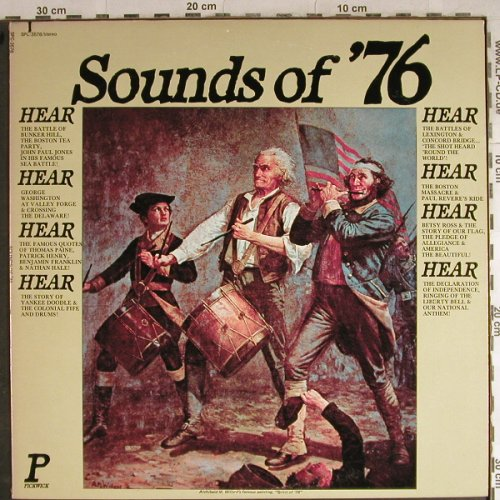 V.A.Sounds of '76: Pledge to the Flag...Anthem,spoken, Pickwick(SPC-3576), US, co, 1975 - LP - H8774 - 6,00 Euro