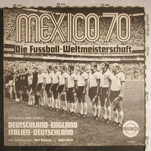 Mexico 70 WM: Deutschland-England,Italien-Deutsch, Resono(RS 13004), D,  - LP - H8828 - 6,00 Euro