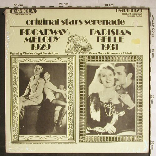 V.A.Broadway Melody 1929: Parisian Belle 1931, Raviola/Flicker.No.8(69), ,  - LP - H9096 - 7,50 Euro